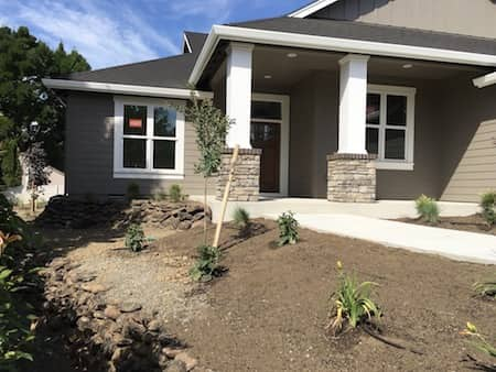 Landscapinmg Project Using Natural Rock In Medford