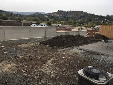 New home landscaping project - backyard