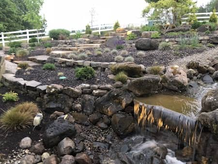 Water Feature With Lighting In Rogue River Project