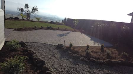 Paver patio in backyard in Medford