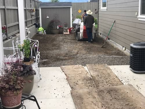 Backyard landscaping photos - before and after