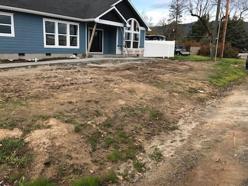 Front yard before and after picture