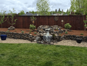 Retaining Wall & Fountain