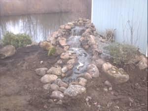 back yard water fountain