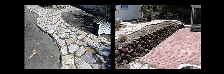 fountain and stream landscaping