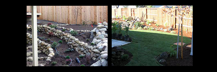 custom yard landscaping