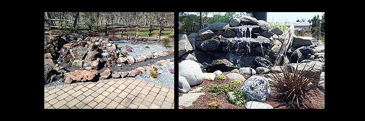 landscape streams in yard