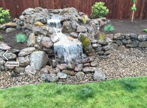 cutom rock fountain