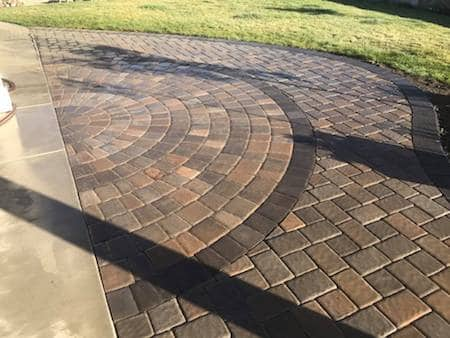 Custom paver patio in back yard