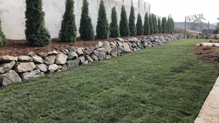 Retaining Wall - Natural Rock
