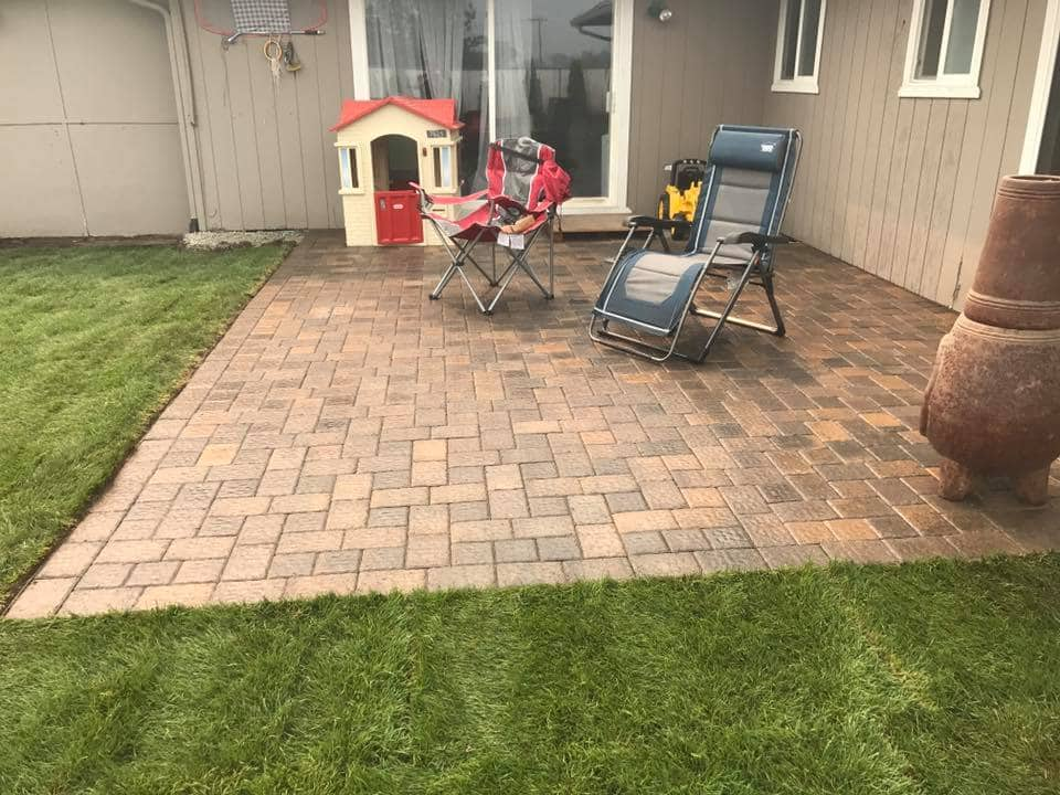 Landscaping Back yard Patio