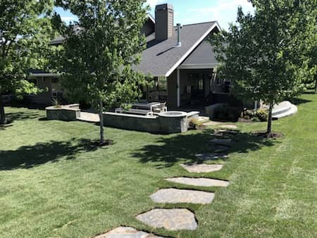 Landscaping with sod