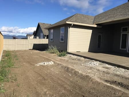 Landscaping before and after picture