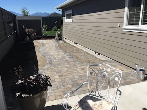 Paver walkway to front door