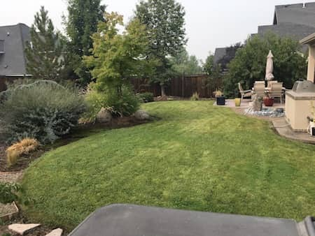 Natural Stone Landscaping - before and after