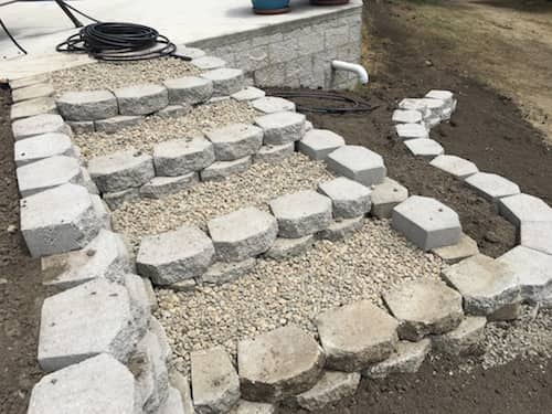 Retaining Wall & Steps