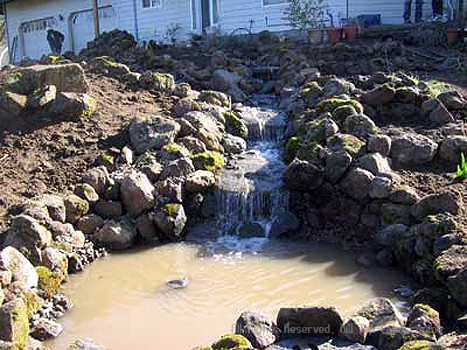 Water Feature Landscping Project